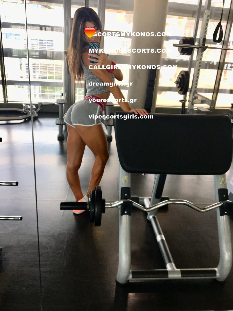 Escort fitness girl muscle escort